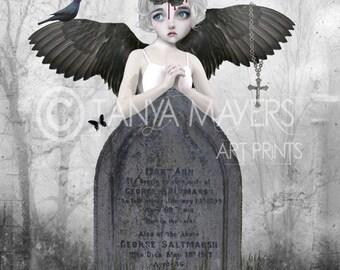 A3 Art Print - Large Print - Fantasy Art - Fallen Angel