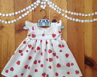 Valentines dress one year old girl birthday outfit 12 months first birthday dress 12m 12 m little girl valentines gift dress kids Peter Pan