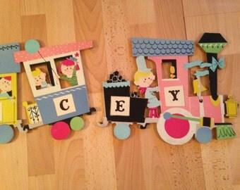 Train Nursery or Children's Room Decor