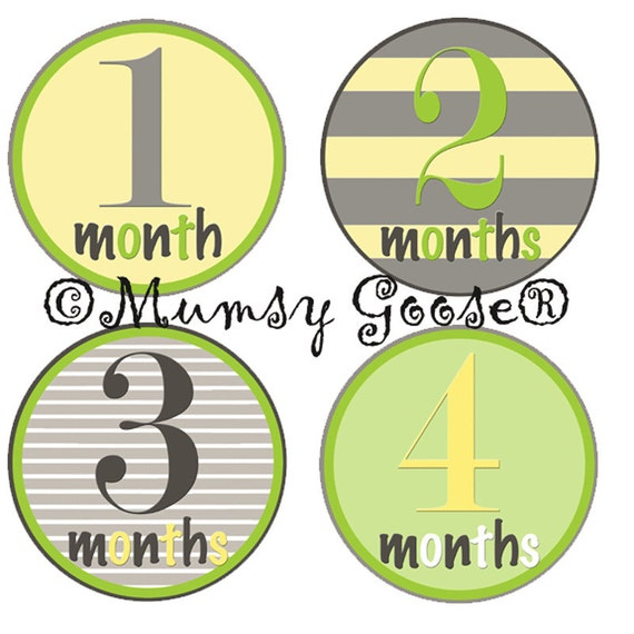Baby Boy Stickers Baby Months Stickers Boy Age Month Baby stickers Milestones Great Newborn Photo