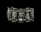 reserved for PRP Medieval bracelet Gothic bracelet Queen king castle jewelry Vintage gothic wedding horse Silver Fairy tale wedding bracelet
