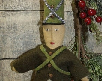 My Primitive Saltbox/Vintage Style Ornies/SOLDIER BOY/Christmas ornament/PATTERN/Instant Download/collection/