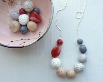 grace in gravity - necklace - vintage lucite, remixed