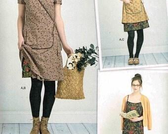 Dottie Angel Sewing Pattern Boho Granny Chic Slip Wrap Dress Simplicity 8186 Misses Size 4 6 8 10 12  14 16 18 20 Bust 31.5 32.5 34 36 38 40