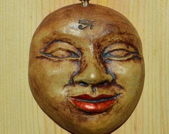 Ceramic Face Oranament/ Wall hanging