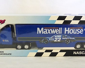 Vintage mettel Nascar race image maxwell house truck car limited edition