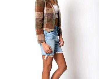 The Vintage Plaid Flannel Blazer Jacket