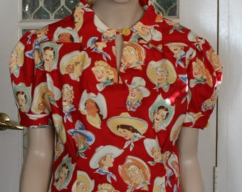 1940's reproduction Blouse -  WESTERN BUCKERETTES