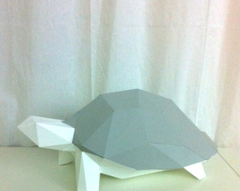 Turtle 3d papercraft. You get a PDF digital file with the templates and instructions for this DIY (do it yourself) paper sculpture.