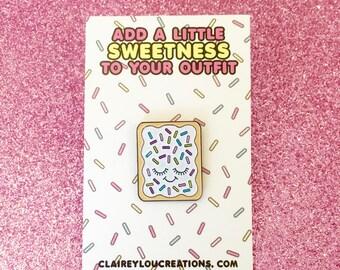 Pop Tart Pin - Cute Pin - Pop Tart - Cute Food Pin - Junk Food Pin - Kawaii Pin - Cute Enamel Pin - Kawaii Pins - Food Pins