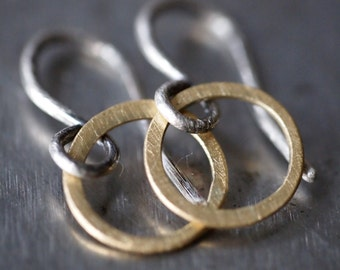 Super duper tiny and cute hammered 18k yellow gold hoop earrings