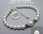 Mother of the Groom Gift, Mother of the Bride Gift, Royal Blue Bracelet, Thank You For Raising the Man of My Dreams, Gift for Mom