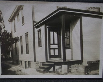 Antique Cabinet Photo-ID'd Large House-14 Olive ST-Ashtabula,OH-Wood Milk Crate