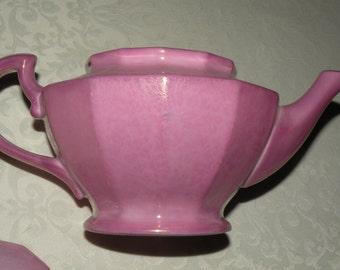 Lavender Czechoslovakia Teapot H&C Floral pattern