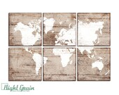 Large Vintage World Map Print - Custom Made to Order - Vintage Nursery Wall Art Decor