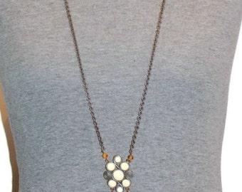 Vintage Matte Silver Chain Pendant Necklace Long Pendant Necklaces Vintage Silver Necklace Long Silver Pendant Necklace Pendant Jewelry