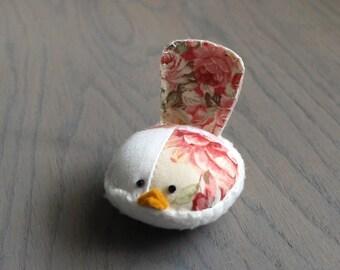 Pretty Floral Bird Pincushion Floral Pin Keep Small Pin Cushion Floral Handmade Pincushion