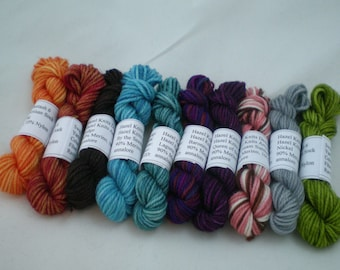Mini Skeins - Hazel Knits Artisan Sock 5 g set of 10 (set 1)