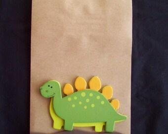 Dinosaur favor bags, Dinosaur Birthday bags