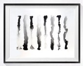 1. Original Watercolor Abstract Painting / Modern artwork Color field gey black white / Original abstract art / Home Wall decor / 15x20
