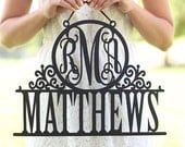 Personalized Newlywed Sign with Monogram and Last Name Wedding Gift Decor SHIPS QUICK (Item NVMHDA1453)
