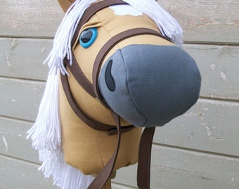 """Mustang Collection """"Palomino"""" Stick Horse or Pony Ready to Ride"""