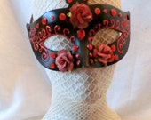 Sugared Roses Hand Painted Mask