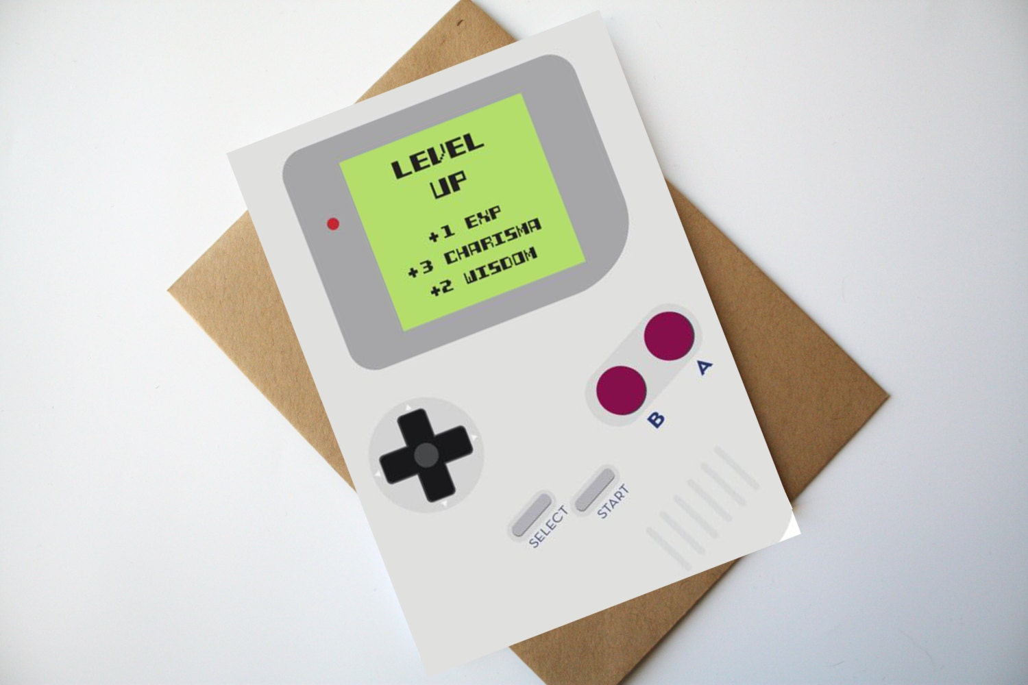 gamer birthday card nintendo game boy inspired birthday card. Black Bedroom Furniture Sets. Home Design Ideas
