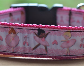 Ballerina dancer dog collar & leash
