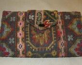 Vintage Fashionette  Wallets, Fashionette Dallas Texas, Carpet Bag Wallet, Cool 60's Wallets, Tapestry Wallets, Texas Fashion,Texas Design