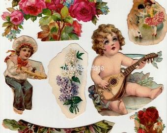 Ephemera Victorian Scrap Die Cut Shabby Paper Early 1900s Mixed Media