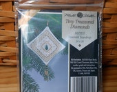 Mill Hill Cross Stitch Kit - Emerald Teardrop Tiny Treasured Diamond - Free U.S. Shipping