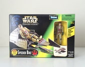 Star Wars Speeder Bike Vehicle with Rebel Pilot Action Figure - 1990's Star Wars Expanded Universe Prototype Toy, Return of the Jedi