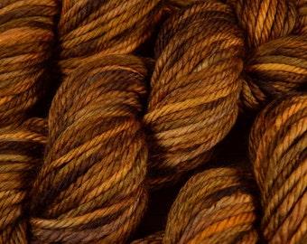 Hand Dyed Bulky Yarn - Bulky Weight Superwash Merino Wool Yarn - Potluck Warm Browns - Knitting Yarn, Wool Yarn, Bulky Yarn, Brown