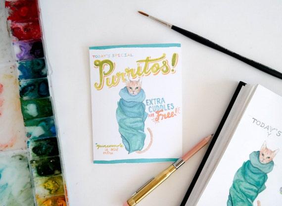 Purritos! Cat Greeting Card