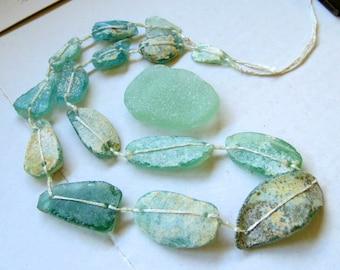 NEW ROMAN GLASS Beads . Strand No. 7 . Antiquities . Rare rustic glass beads