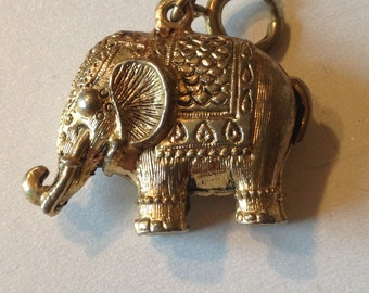 Elephant Pendant Chunky Three Dimensional