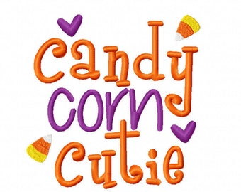 Candy Corn Cutie Machine Embroidery Design Halloween Instant Download 4x4 5x7 6x10 baby shower autumn fall party boy girl infant first bib