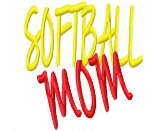 Softball Mom Machine Embroidery Design Instant Download 4x4 5x7 6x10 Girl Shirt bag mother Shower Sports Tshirt tee gift family fan mom