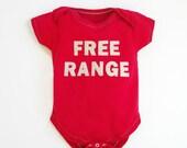 Baby Onesie : FREE RANGE 0-3 Years, Baby Shower
