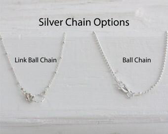 Silver Chain, Silver Ball Chain, Sterling Silver Chain, Ball Chain, Link and Ball Chain, Saturn Chain, Silver Saturn Chain, Link Chain