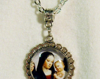 Madonna and child necklace - AP17-606