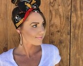 Pittsburgh Steelers Dolly Bow    Pinup Rockabilly Dolly Bow Tie Headband Yellow Black Red Football Headscarf Hair Band Head Wrap Accessories