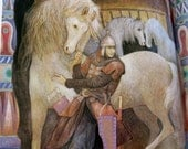A Russian Folk Tale Prince Ivan and the Firebird - Laszlo Gal - Vintage Children's Book - Vintage Children Illustrations