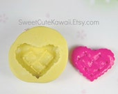 Heart Cookie Biscuit Mold for Resin Polymer Clay Soap Wax Decoden