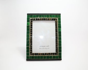 Mosaic Photo Frame | Unique artistic frame | Total size-- 18,2 x 24,8cm (7,16 x 9,76 in). Photo size--12 x 17 cm (4,8 x 6,77 in)