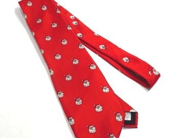 Wembley Santa Claus Silk Tie Vintage 1980s Necktie Mens Retro Kitschy Christmas Tie - FREE Domestic Shipping