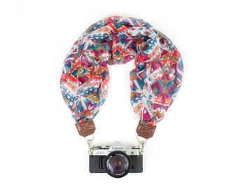 DSLR Scarf Camera Strap - Orange Tribal