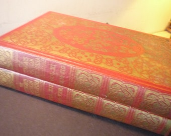 The Standard American Encyclopedia - 2 Book Set - Decorated matching red set - 1937 illustrated edition MINT condition