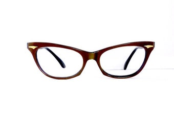 Chiquita Cat Eye Eyeglasses Frames // Women's 1950's //Bronze Frames // #M134